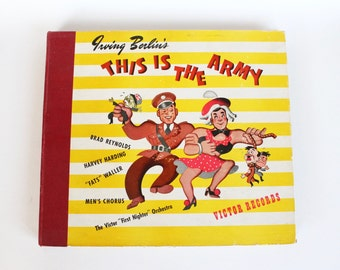 "Vintage 1940s Irving Berlin ""This Is The Army"" WWII Record Set"