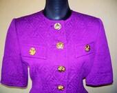 Vintage Christian Lacroix Violet Jacket w/Belt Sz 8