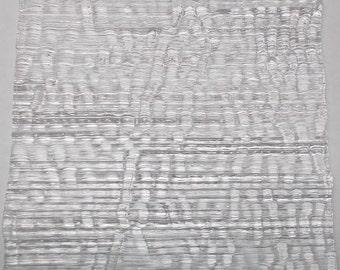 Uroboros Clear Fipple 90 COE Fusible Glass - Interesting texture!