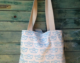 Hepphabit block printed tote bag