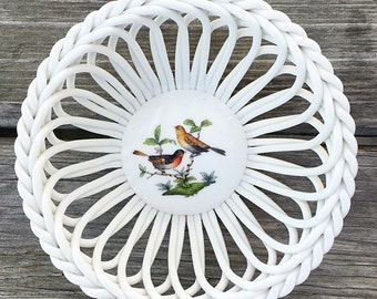 Open Weave Porcelain Basket Herend Basket Weave Trinket Bowl Giftware