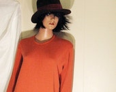 Mint Condition   MARKS And SPENCER  St Michaels Burnt Orange Tunic Sweater Size UK 14 Eur 42 Usa Large  Pure New Wool