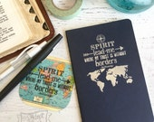 Spirit lead me where my trust is without borders Hillsong Oceans journal (small/squared/navy/silver)