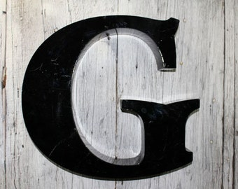 Big Black G, letter G, Capital Letter G, Vintage Sign Letter