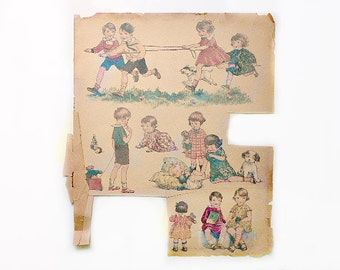 Antique Water Slide Decal Transfers From the 1920s-30s
