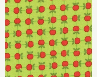 ON SALE Apples on Green Apple Jack  Moda Quilt Fabric by the 1/2yd