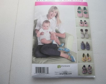 Pattern Baby Infant Toddler Ladies Shoes 3 Sizes S-M-L Simplicity 2278