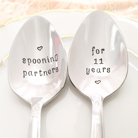 Gift For 11th Wedding Anniversary: 11th Anniversary Gift. Traditional Stainless Steel Spoons