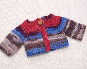 Waldorf Doll Clothes -Hand knitted Sweater , fit 9 inch dolls