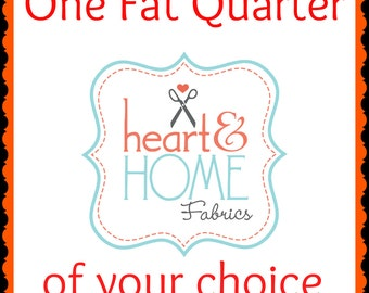 One Fat Quarter of Your Choice