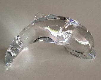 Hoya Modernist Glass Dolphin/ Hoya Glass/ Artist Signed By Gatormom13