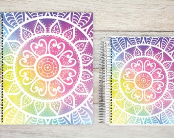 Monthly Planner | 24 Month Planner | Personalized Monthly Planner | Calendar Planner | 2 Year Planner | Month On Two Pages |colorful mandala