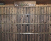 Rustic custom portable wall with Shelfs - display for shop or booth - Wall only
