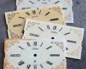 Vintage Soviet Alarm Clock Faces from 1980's -- plastic