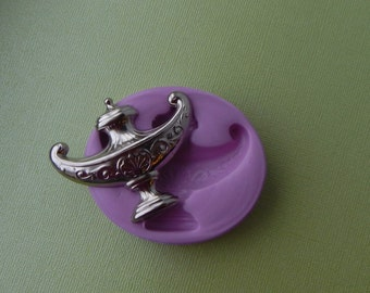 Alladins Lamp Genie Magical Silicone Mold Fondant Resin Polymer Clay Moulds