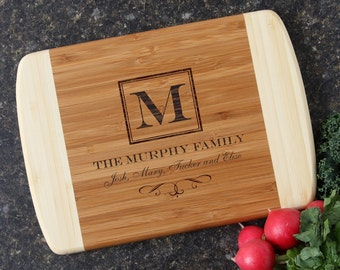 Personalized Cutting Boards, Custom Engraved Cutting Board, Bamboo Cutting Boards, Host Hostess Gift, Monogram, Housewarming Gift-11 x 8 D41