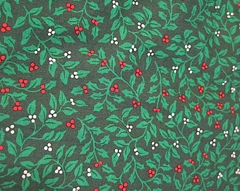 Almost 4 Yds of Christmas Print Fabric