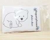 DESTASH Polar Bear Stamp C.C. Designs Sugarplums