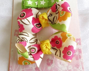 Mini Boutique Girls Hairbow Hairclippies Combination Set