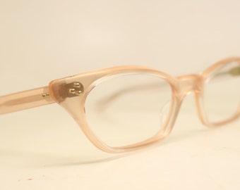 Pink Translucent cat eye eyeglasses  vintage cat eye glasses frames Cateye frames