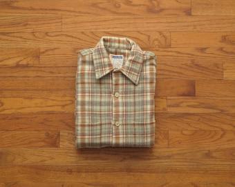 mens vintage Golden Key flannel shirt