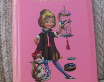 Pink Photo Album with A Little Girl and Her Pets