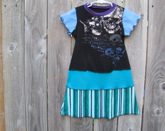 A Pirate's Life For Me Upcycled Girl's Dress Size 5/ 6