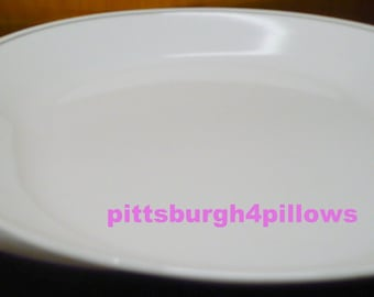 2 - Corelle - Ribbon Bouquet Or English Morning Meat Serving Platters - Euc - 12 Inch - Grey Ring - Read Below