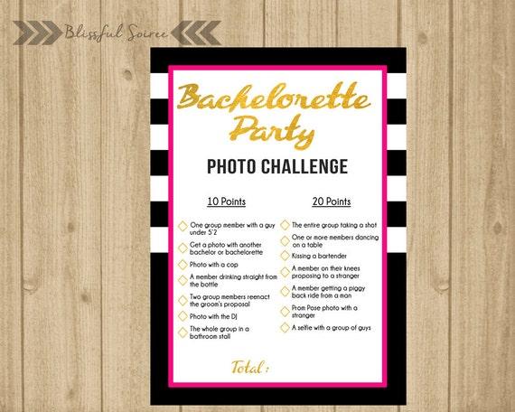 Scavenger Hunt List >> Bachelorette Party Game Photo Challenge Scavenger Hunt