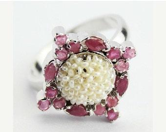 VALENTINE SALE 55% Ruby Sterling Silver Ring 1516RG