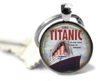 Titanic Key Ring, Titanic Necklace, Titanic Jewelry, Titanic Pendant, Titanic Lover Gift, Gift for Her,