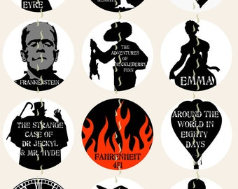 Movie Magnets, Silhouettes Pins, Classic Movie Magnets Pins, Fridge Magnets, Gift Sets