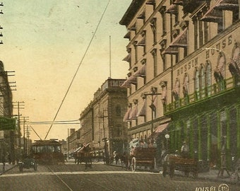 Vintage Toronto Postcard Corner York and King Streets – Busy Street Scene at the Turn of the Century