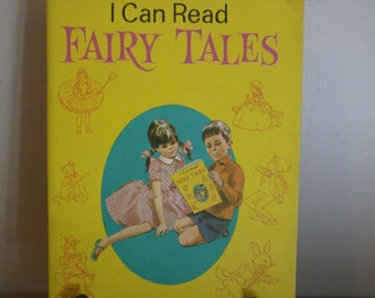 I Can Read Fairy Tales Vintage Children's Book – Large Size Type Colourful and Engaging Images 1967 Purnell Softcover Story Book