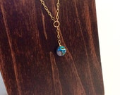 14K Gold Abalone Shell Y Chain Necklace || Artisian Jewelry || Artisian Necklace || Hand Crafted Necklace || Gold Chain || Boho Necklace