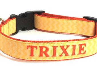 Personalized Dog Collar- Chevron Dog Collar