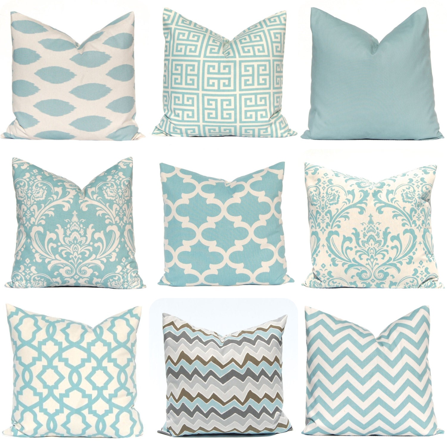 Blue Pillow Covers e Throw Pillow Cover Decorative