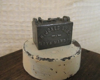 Vintage Cast Iron Car Battery Paperweight - 1940's Advertising - Westinghouse Union Battery Co - Bryn Mawr, PA
