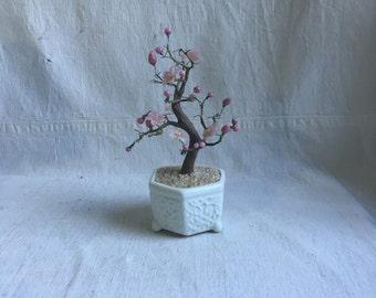 Vintage musical sculpture   Cherry blossom tree sculpture musical   Japanese musical cherry tree sculpture