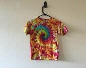Kids M/L rainbow tie dyed t shirt
