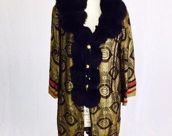 RARE! MUSEUM QUALITY! The Talitha Boho Hippie Rock Star Opera Coat.