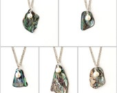 Abalone Shell and Pearl Necklace, One Pendant, Paua Shell Pendant, Abalone Jewelry, Shell Jewellery, Pearl Pendant, UK, 2171