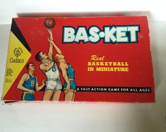 Vintage Basketball Game - Bas-Ket by Cadaco