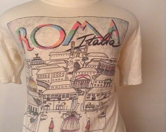 SALE Vintage 1980s Rome Italy Tshirt