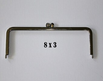 Nickel Free 8x3 Purse Frame