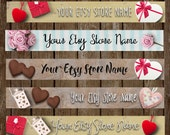 Premade Etsy Store Banner - Valentine's Day Decorate Your Store with Festive Holiday Graphics