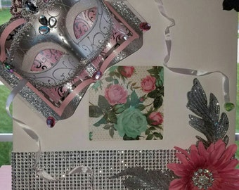 Canvas Frame Wall Decor - Insert Your Own Picture - 3D Eye Mask and Floral Design