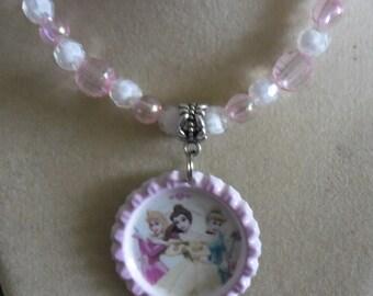 Disney Princesses Handmade Beaded Necklace