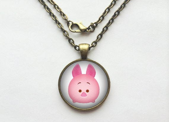 Piglet from Winnie The Pooh Tsum Tsum Necklace or Keychain