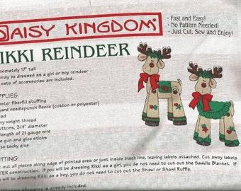 "Daisy KIngdom ""Rikki Reindeer"" Fabric Panel"